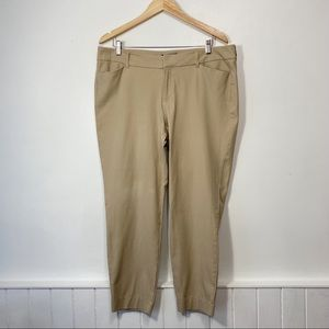 Old Navy Pixie Rolled Oats Mid-Rise Chino Cropped Ankle Pants Size 16 Regular